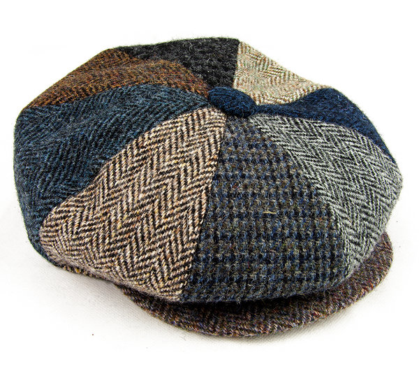 Eight Piece Harris Tweed Cap