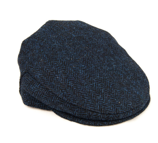 Classic Harris Tweed Cap Navy