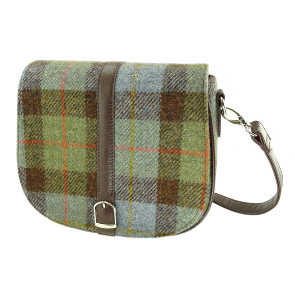 Orig Harris Tweed Shoulderbag Beauly, Green