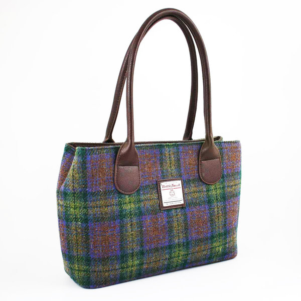 Orig Harris Tweed Handbag Cassley GreenBrown