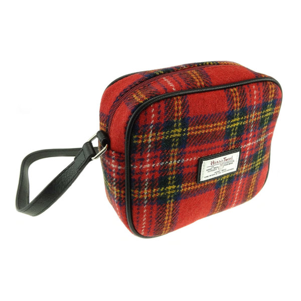 Orig Harris Tweed 'Almond' Shoulderbag Red Tartan