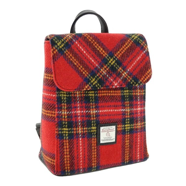 Orig Harris Tweed 'Tummel' Rucksack Red Tartan