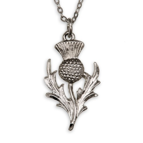 Scottish Thistle Pendant, aus Hartzinn
