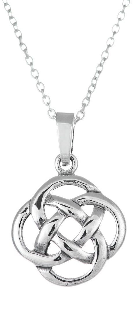 Round Knot Celtic Necklace, Silber 925/1000