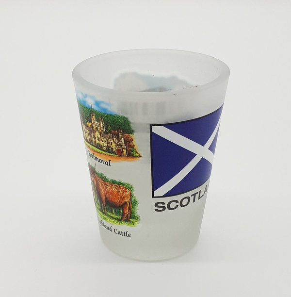 Shotglas ' Scotland Pictures'