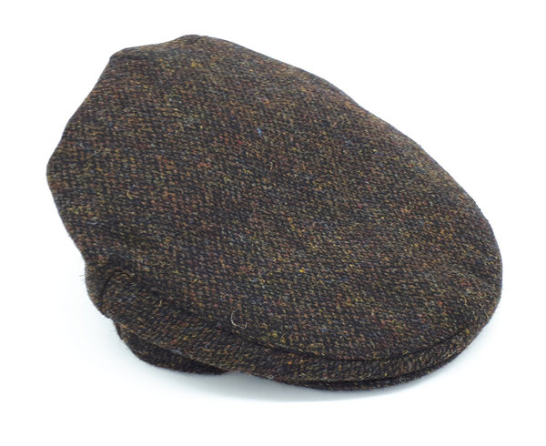 Orig Harris Tweed Country Cap Chocolate