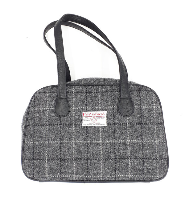 Orig Harris Tweed Shoulderbag Eden, Grey Checks