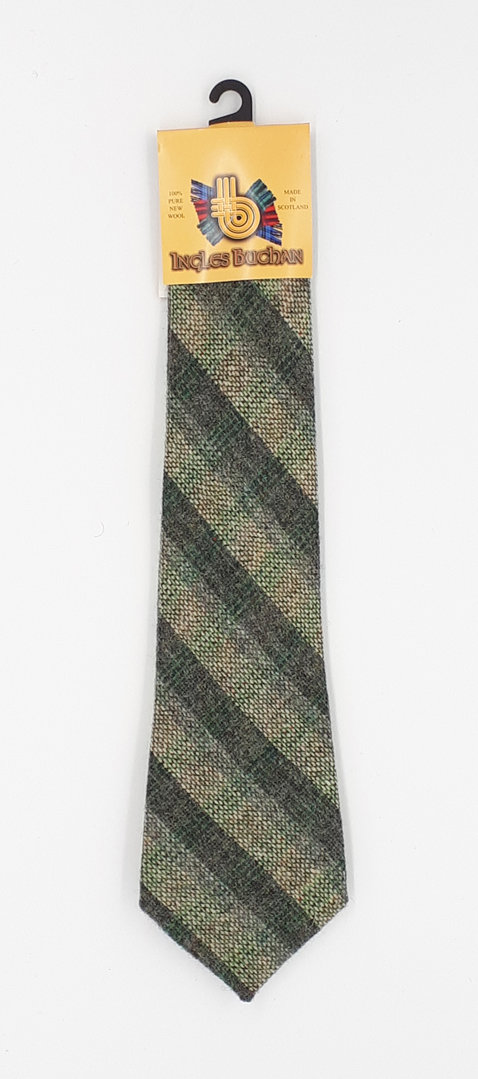 Classic Tweed Tie Grass and Burdock Stripe